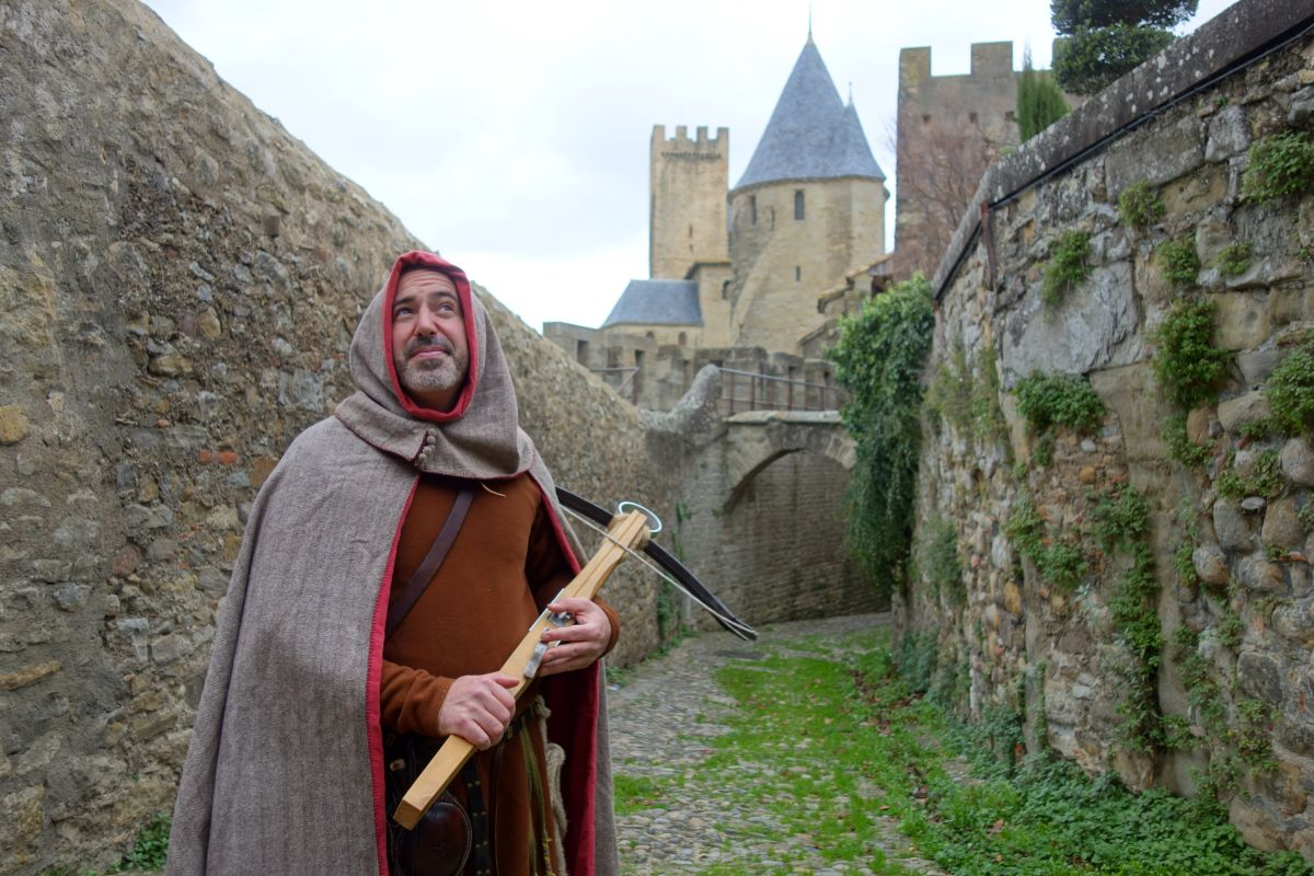 visite costumée de Carcassonne au temps des croisades