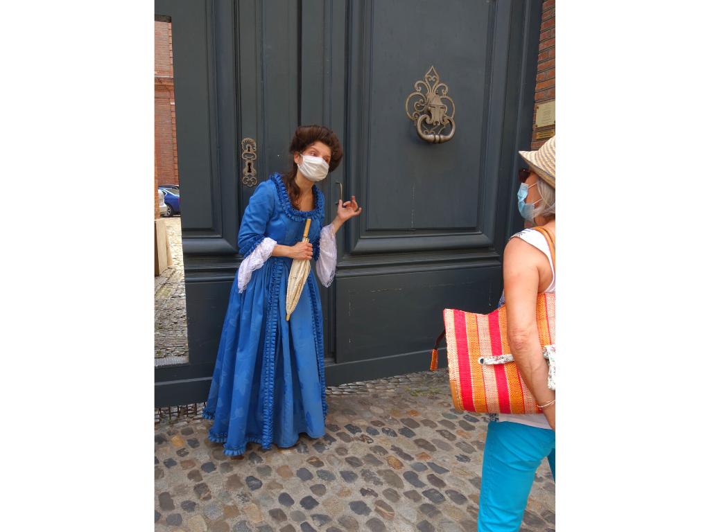 visite théâtralisée quartier Saint Etienne Mme de Cambon Toulouse siècle des Lumières