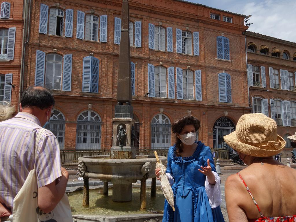 visite théâtralisée quartier Saint ETienne Toulouse au siècle des Lumières