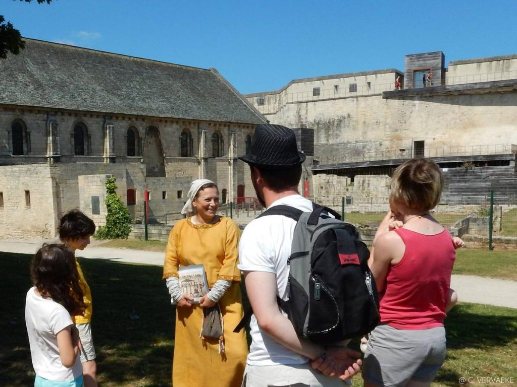 Visite du chateau Guillaume le conquérant à Caen
