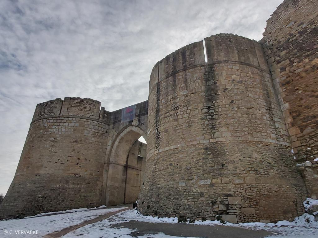 château de Falaise (Calvados) sous la neige