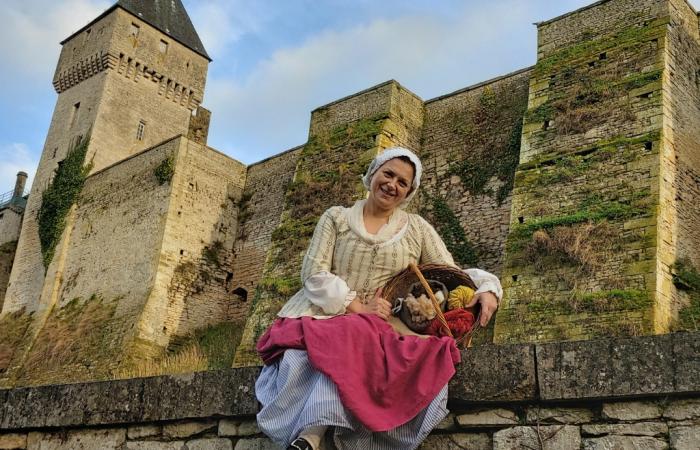 visite château médieval de creully-sur-seulles lavandiere