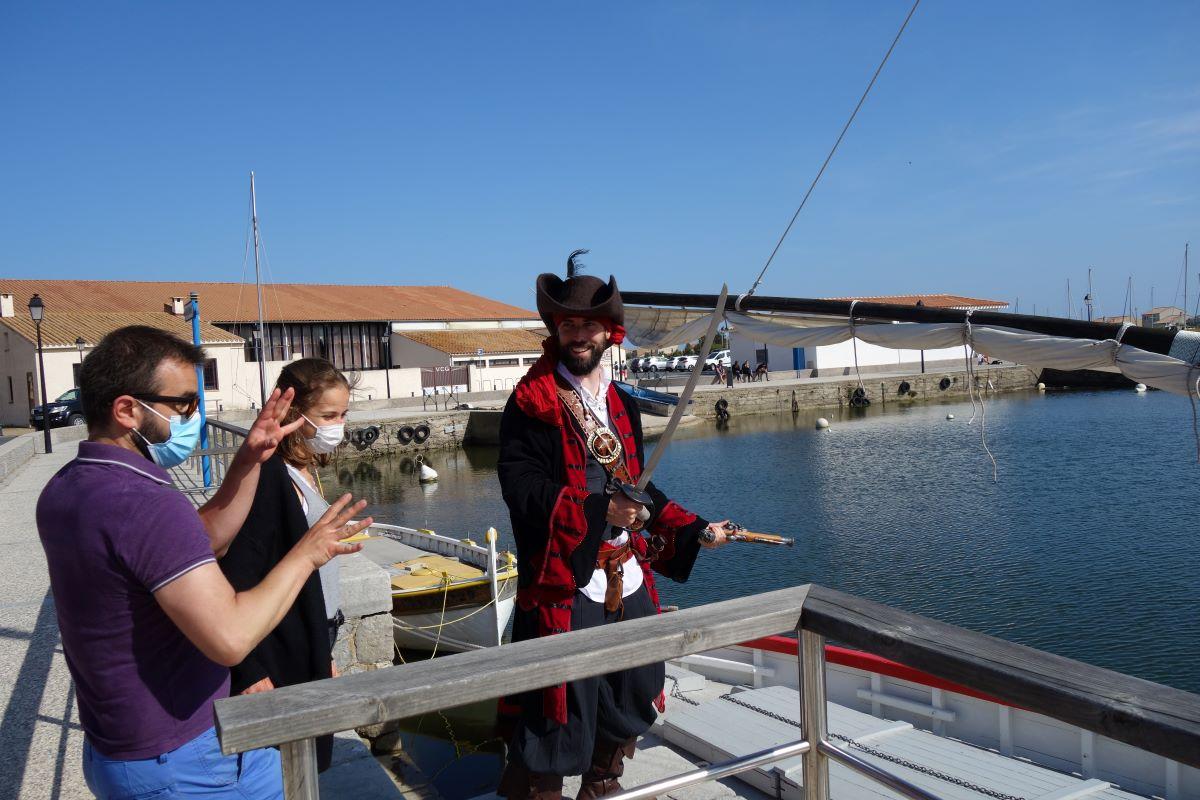 abordage gruissan visite insolite guidée par un pirate du XVIIè