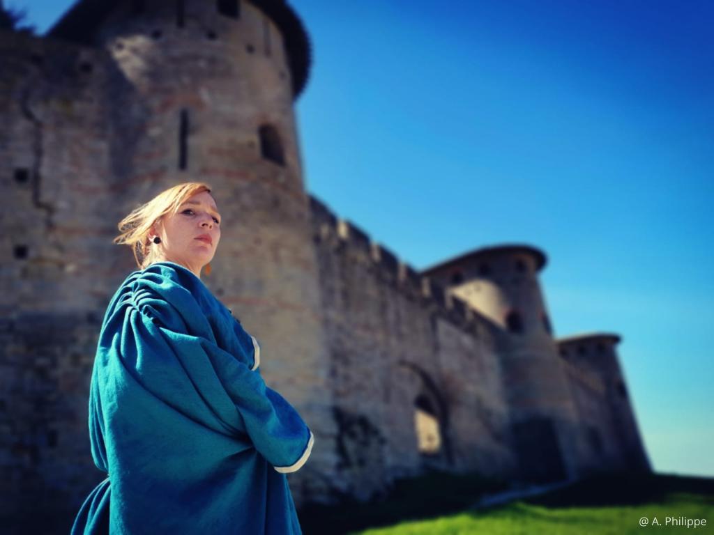 visite de Carcassonne avec Octavia citoyenne romaine