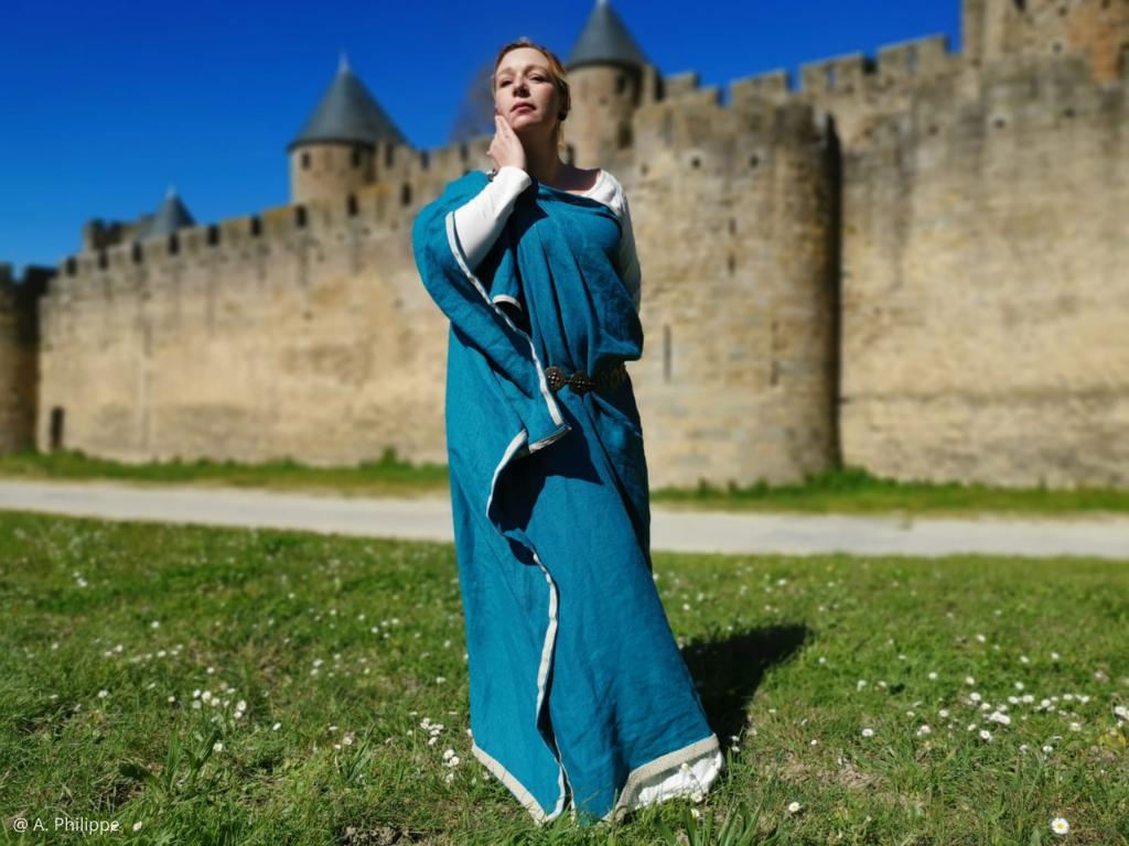 visite costumée Carcassonne antique avec Octavia