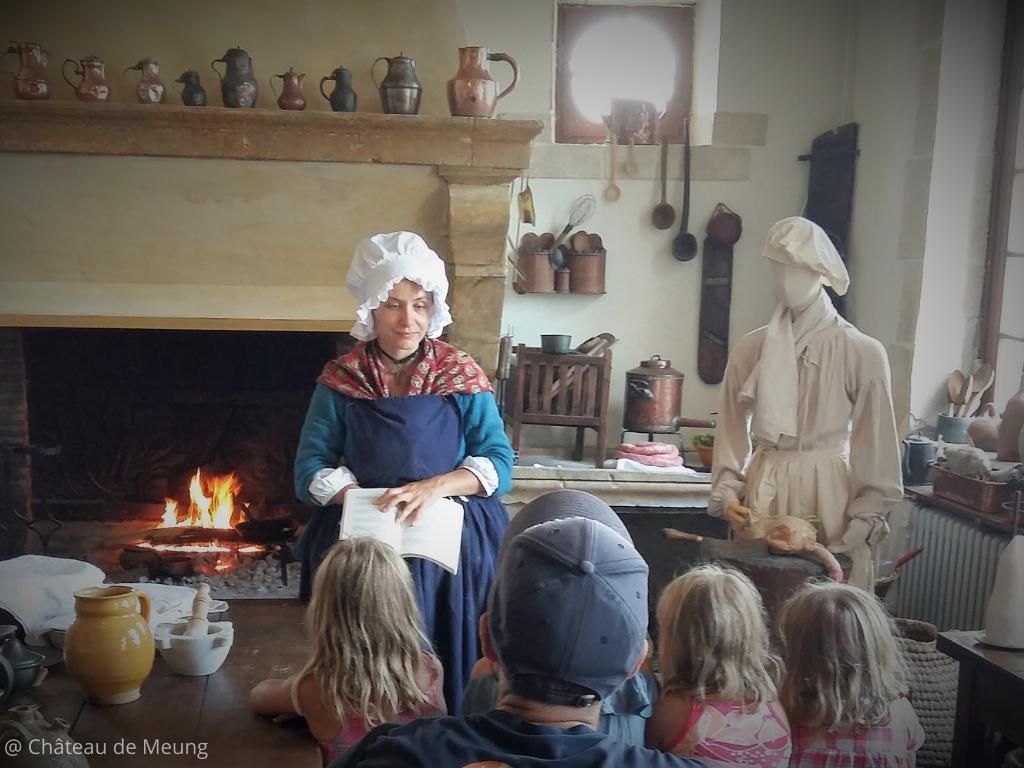 visite insolite menée par la cuisinère du château de Meung sur Loire