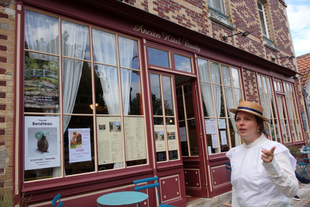 Louise estaminet hotel baudy visite insolite giverny