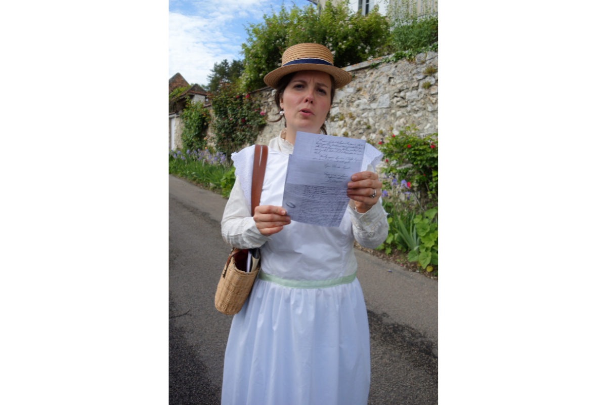 lettre monet visite insolite giverny