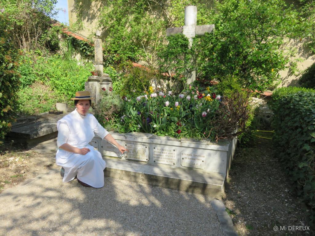 visite costumée Giverny village XIX Monnet