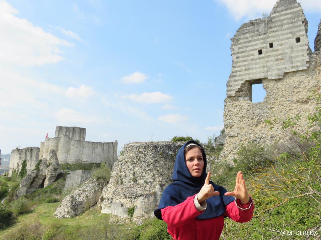 visite insolite histoire chateau gaillard guidé Guillaume Saint Marcel
