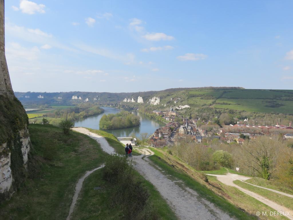 vue forteresse chateau gaillard tourisme normandie