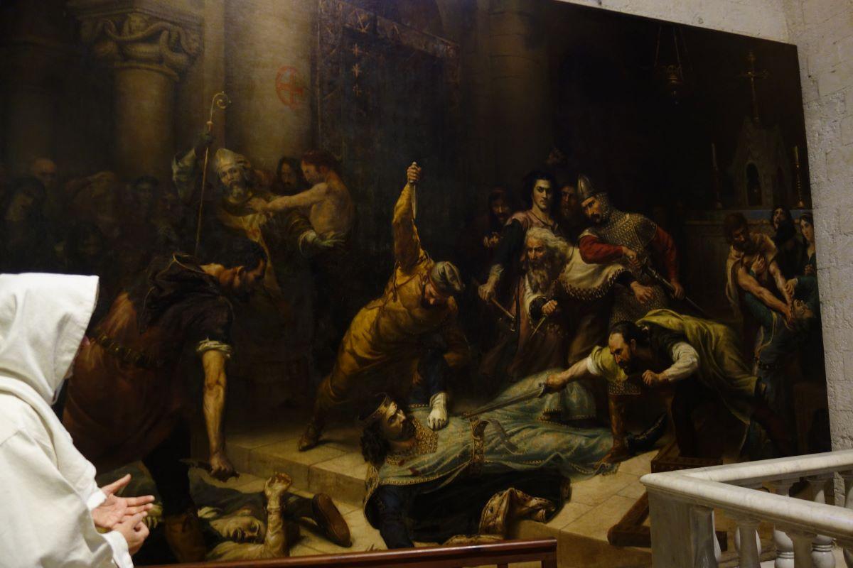 peinture de l'église Madeleine, visite insolite de Béziers