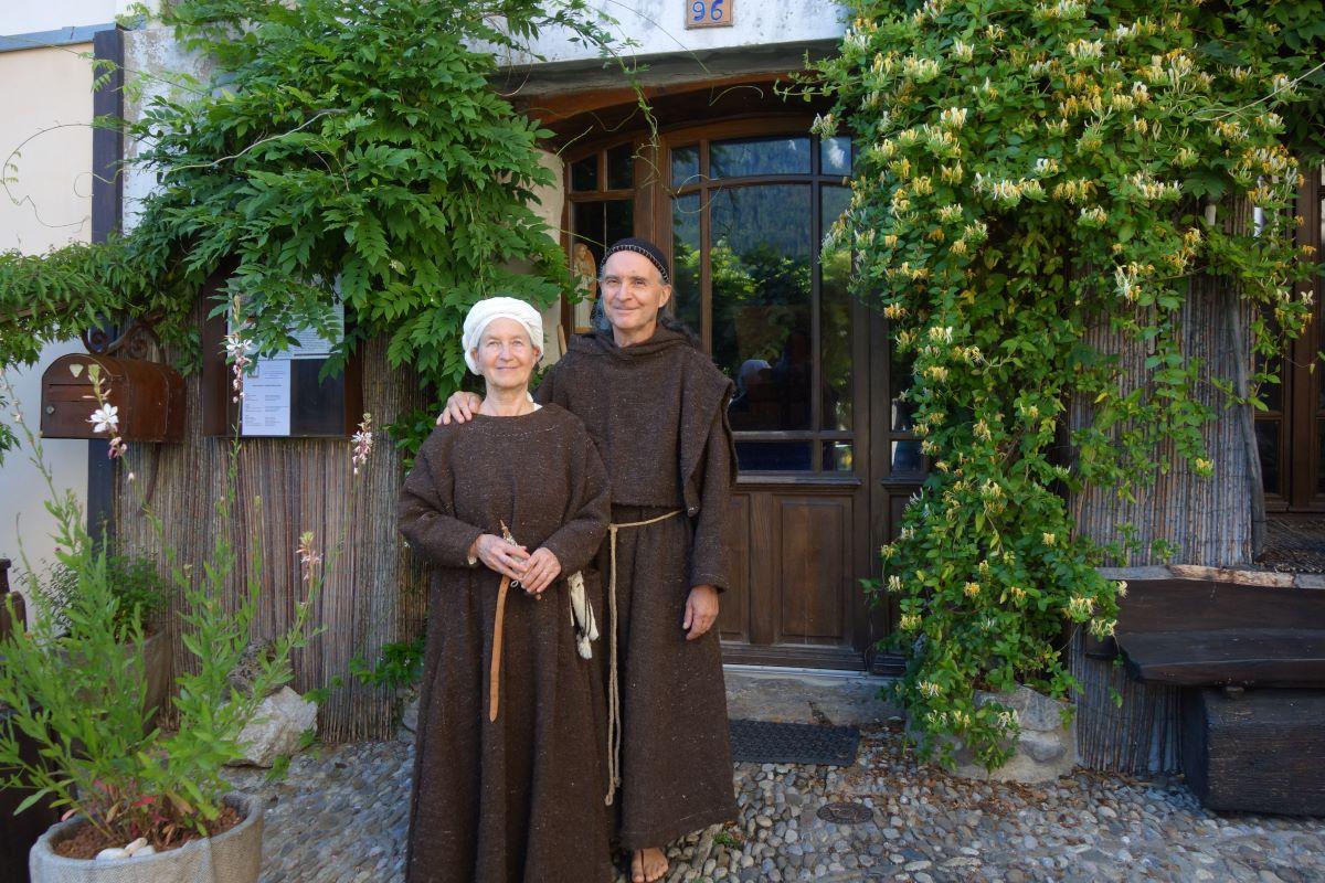 Annemie et Richard tisserands Coeur de tr'âme