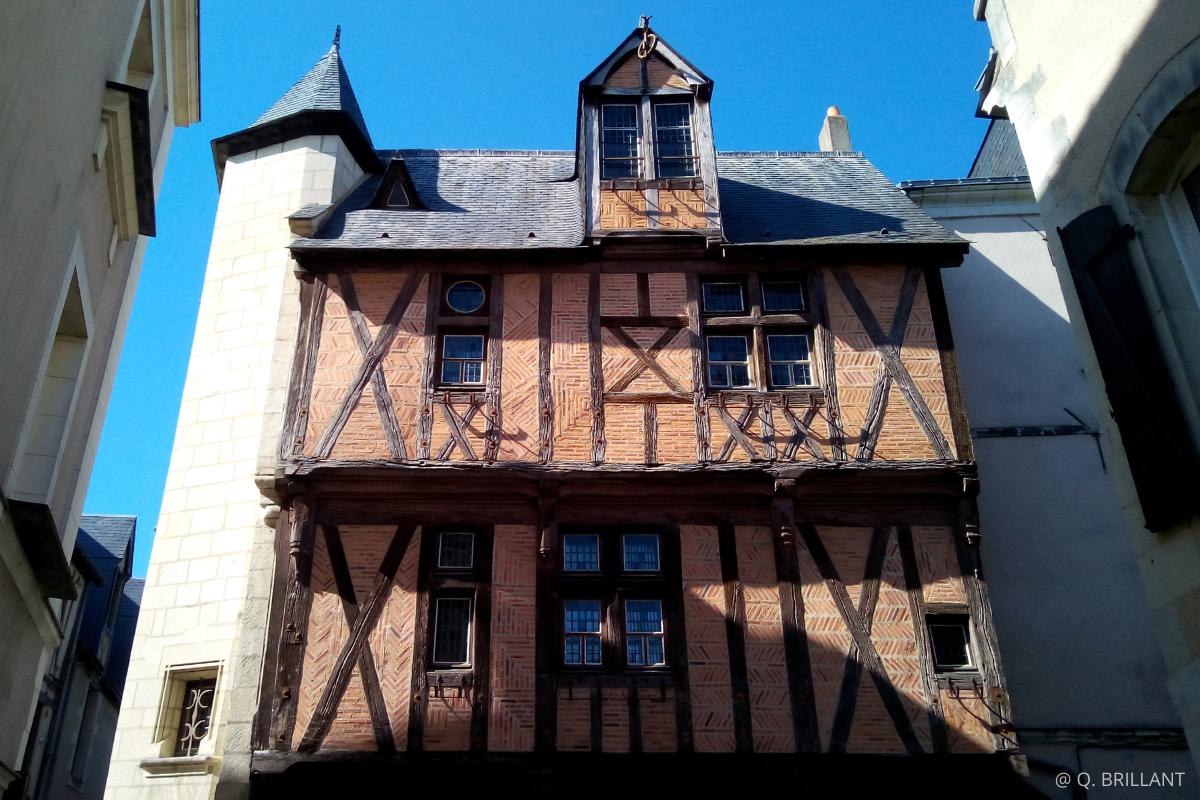 visite Angers au Moyen Age maison pan de bois