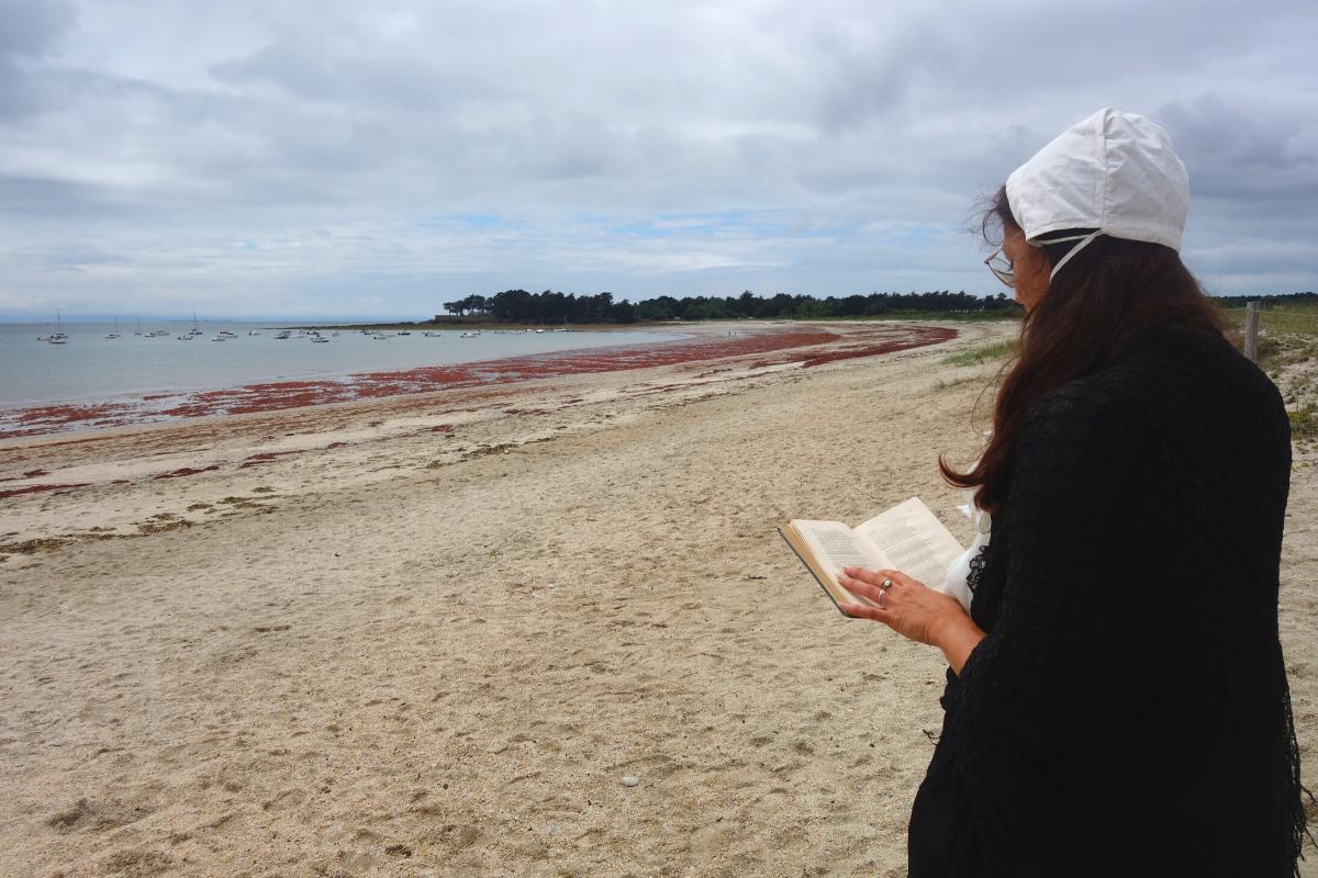 visite insolite guidée par une institutrice presqu'île de Rhuys Sarzeau